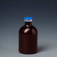 B11 100ml amber plastic vaccine bottle
