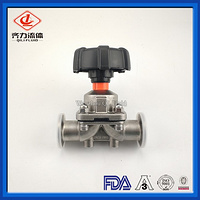 Sanitary Manually Operated 2-Way Diaphragm Valve with Stainless Steel Body