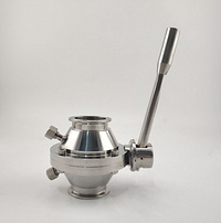 """4"""" 316L Stainless Steel Sanitary Tri-Clamped Ball Valve"""