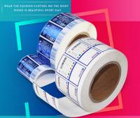 Custom Label Waterproof Self Adhesive Logo Sticker Label Roll