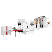 RZFD-330 roll feeding square bottom paper bag machine with2/4colors printing machine