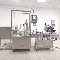 IVD trace diagnostic reagents filling screw cap labeling production line