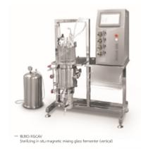 sterilizing in situ glass fermenter(vertical)