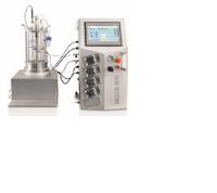 Off-site sterilization glass fermenter (stainless steel jacket temperature control)