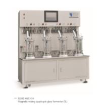 Quadruple glass bioreactor (off-site sterilization)