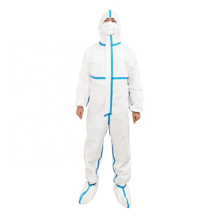 Anti-Static Coverall PPE Taped with Hood, AAMI LEVEL 3 & EN14126