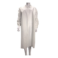 Disposable Medical Shirt collar SMS Lab Coat Non-sterile Waterproof Bacterial Proof, GB18401-2010 Cl