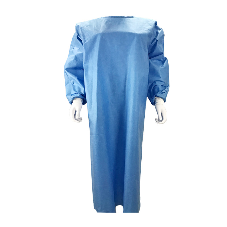 Disposable Non-Woven SMS Reinforced Surgical Gown, AAMI Level 2 & EN13795-1