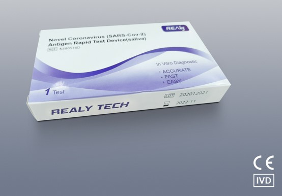 Novel coronavirus(sars-cov-2) antigen rapid test device(saliva) for 1test