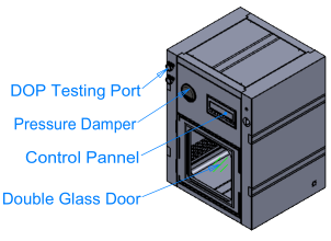 Lab Use Dynamic Pass Box for Clean Room with DOP Test Port