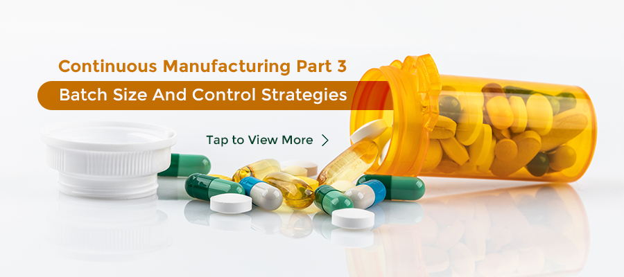 Continuous Manufacturing Part 3: Batch Size And Control Strategies