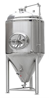 1500 liter fermenter, stainless steel fermenter, conical fermenter with cooling jackets