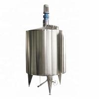 Food grade stainless steel food liquid gel mixer cool heat jacket mixing tank