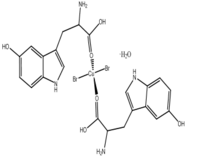 [Cu(L-5-HTP)2Cl2]H2O Coordination compounds of copper(ll) with L-5-hydroxytryptophan,C22H26N4O7Br2Cu