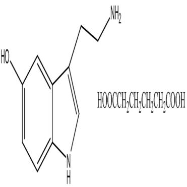 3-(2-aminoethy)1h-indol-5-ol hexanedioic acid,CAS:13425-34-8