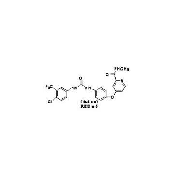 4-[4-[[4-chloro-3-(trifluoromethyl)phenyl]carbamoylamino]phenoxy]-n-methyl-pyridine-2-carboxamide