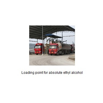 Loading point for absolute ethyl alcohol