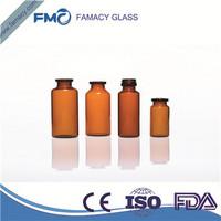 8ml/8R clear/amber pharmaceutical glass vial borosilicate glass