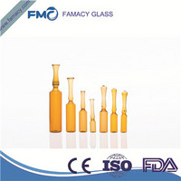 ampoule 2ml/2R clear/amber formB/C glass ampoule type 1 glass tubing HC1