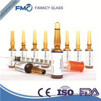 ampoule 3ml/3R clear/amber formD glass ampuls ampoule HC1 Type 1