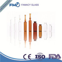 ampoule 20ml/20R clear/amber formB/C/D glass ampuls  ampoule HC1 Type 1