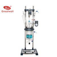 2L Double-layer Glass Reaction Kettle