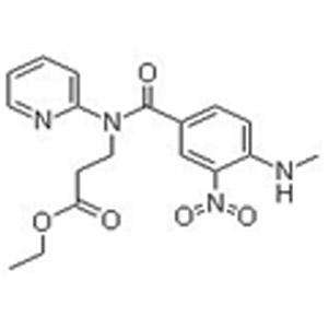 Ethyl 3-(4-(methylamino)-3-nitro-N-(pyridin-2-yl)benzamido)propanoate