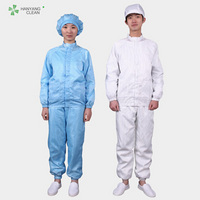 Anti Static Stand Collar Protective Cleanroom Suit Clothes