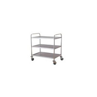 Stainless steel flat trolley