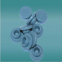 Halogenated butyl rubber plug for injection