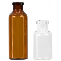 50ml/50R clear/amber pharmaceutical glass vials borosilicate glass