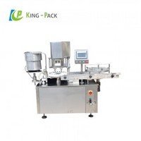 Powder vial filling and capping machine
