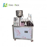 Medical gel filling and capping machine