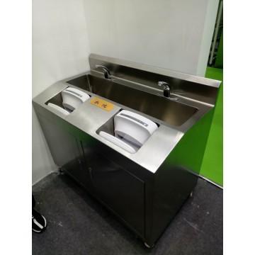 Stainless steel washing sink