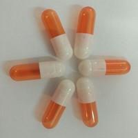 0#white/orange transparent empty capsule
