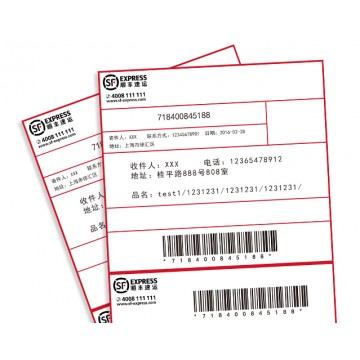 Bar-code Pre-printed Label