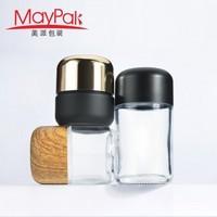 Hot sales Child Resistant Cap 50ml 70ml 90ml 110ml Empty Glass Weed Bottle