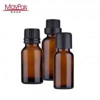 Glass dropper 10ml amber glass essential oil bottle with screw cap-Maypak