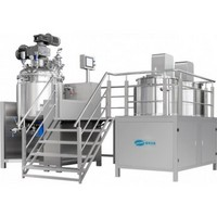 Pharmaceutical Ointment Syrup Manufacturing Vessel Stainless Steel Mixer