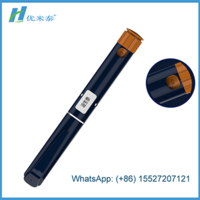 Disposable HGH pen plastic body with double chamber cartridge for injection of Human Growth Hormone