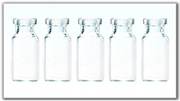 The Series of Tubular Injection Vials Glass